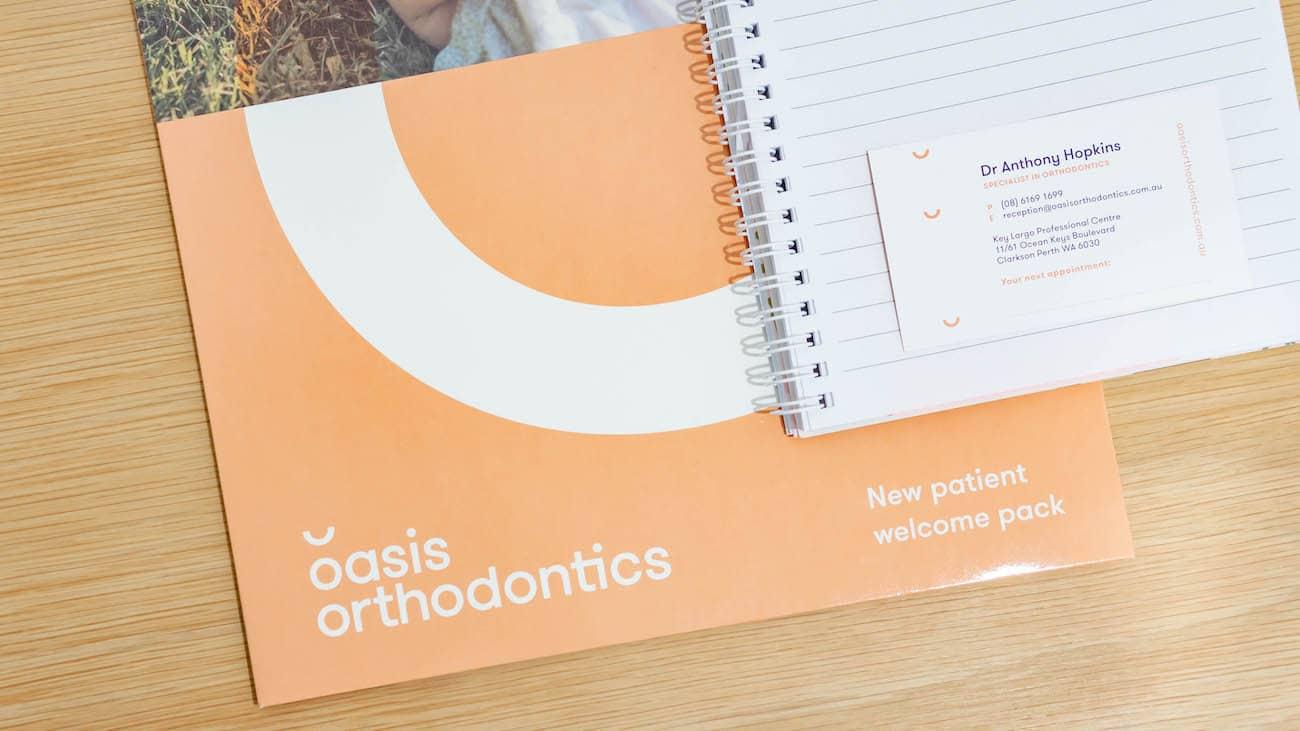 Oasis Orthodontics Business Card